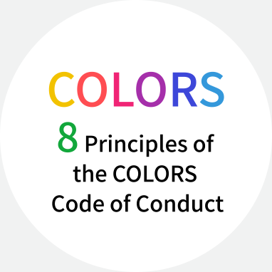 8 Principles of the COLORS Code of Conduct